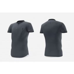 Eye Henley T-shirt (Dark grey/black)