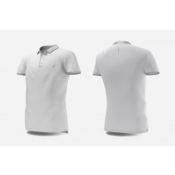 Eye Polo (White/light grey)