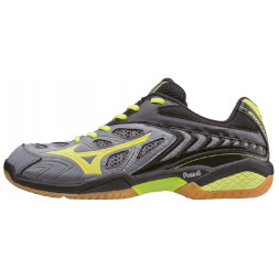 Mizuno Wave Fang SL Squashsko (Steel Gray / S Yellow)