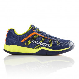 Salming Adder Junior Squashsko (Blue/Yellow)