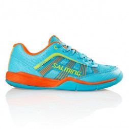 Salming Adder Junior Squashsko (Turqoise/Shock.orange)