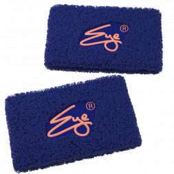 Eye Performance Line Wristbands, 2-pack (Night Storm Navy with Peach)