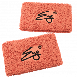 Eye Performance Line Wristbands, 2-pack (Atomic Peach with Black)