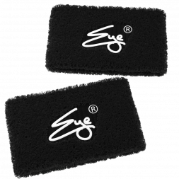 Eye Performance Line Wristbands, 2-pack (Carbon Black with White)